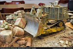 D9R Armored Bulldozer 1/32 Scale Model