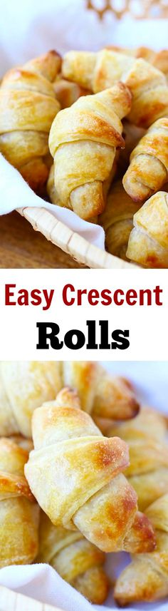 Crescent Rolls – Easy homemade crescent rolls recipe that anyone can make. Flaky, buttery, and fluffy, these rolls are the best!!   rasamalaysia.com