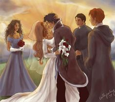 Harry and Ginny (love Ron and Hermione as the Best Man and Maid of Honor)