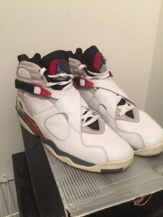 8752cc11a37f Air Jordan Retro 8 White Black True Red Bugs Bunny Sz 13 305381 101 â03  Viii xi. Men s Shoes
