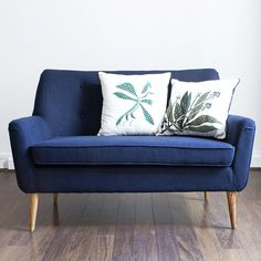 Deep Blue Two-Seater Armchair by comingB Two Seater Couch, Blue Couches, Piece A Vivre, Deep Blue, Decoration, Love Seat, Armchair, Lounge, House Design
