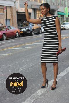 Mood DIY: Striped Boat Neck Dress