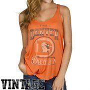 Junk Food Denver Broncos Ladies Touchdown Tank - Orange