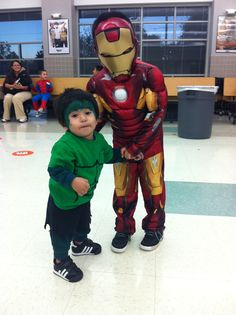 I made my son's Hulk Halloween costume  Quick and easy and inexpensive :)
