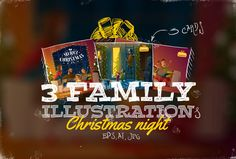 3 Family Ilustrations by drumcheg on Creative Market