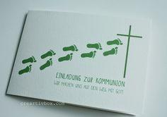 Einladungskarte Konfirmation Kommunion