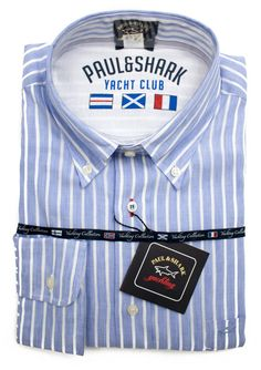 Love the look of Paul & Shark's 'Yacht Club' collection of dress shirts.     Find yours! http://www.frieschskys.com/all-shirts/dress-shirts     #frieschskys #mensfashion #fashion #mensstyle #style #moda #menswear #dapper #stylish #MadeInItaly #Italy #couture #highfashion #designer #shopping