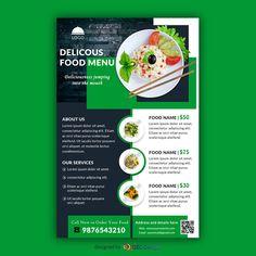 Download Free Delicious food menu restaurant Flyer design templates Food menu Food poster design Food menu design
