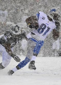 Detroit Lions at Philadelphia Eagles: Calvin Johnson in the snow