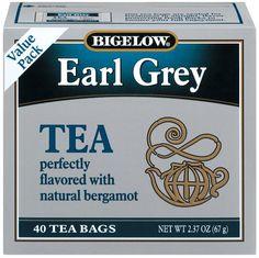 Bigelow Earl Grey Tea, 40-Count Boxes (Pack of 6)