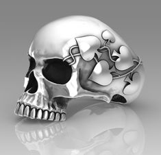 Ivy and Aces skull ring