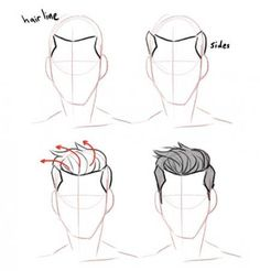 Anatomy Drawing Tutorial Discover more about drawing tips Guy Drawing, Manga Drawing, Drawing People, Drawing Tips, Drawing Sketches, Pencil Drawings, Drawing Male Hair, Drawing Ideas, Hair Drawings