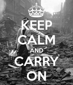 """Milkman in the blitz, the true meaning of 'keep calm and carry on"""". English pragmatism!"""