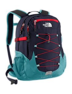 North Face Borealis Backpack - Cosmic Blue/Fiery Red
