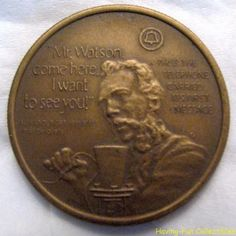 100 Years of Telephone Service Bronze Medal 1876-1976
