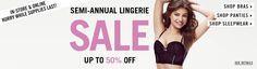 iShopinternational Shop International! Shop from the USA Semi-Annual Lingerie #Sale Upto 50% >>http://bit.ly/1CZaCQr