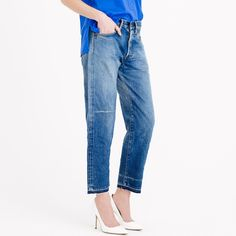 Chimala® cropped Japanese selvedge jean in used light wash : boyfriend | J.Crew