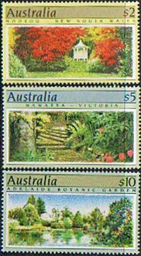 Australia 1989 Botanic Gardens SHORT Set TO $10 Fine Mint SG 1199/1201 Scott 1132/4 Other Australian Stamps HERE
