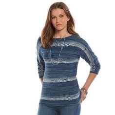 Shop Women's Chaps Chevron Dolman Sweater - (Sale Savings)
