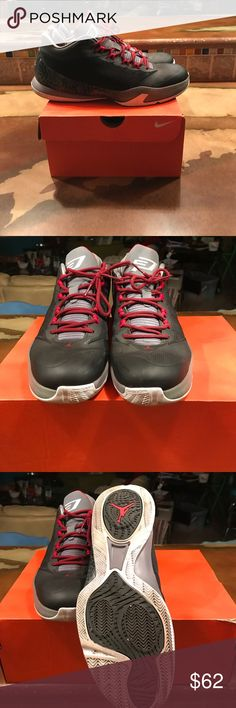 CP basketball shoes. Men's 9.5 🏀Gray/charcoal/red Cp's... in great used condition.   Flight- great cushion, great price☄️🏀 Jordan Shoes Athletic Shoes