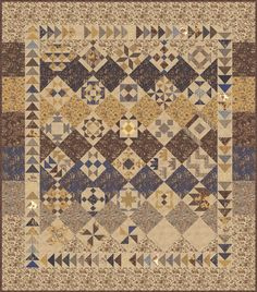 2015 Moda Sampler Block Shuffle Finishing Pattern