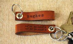 latitude longitude leather keychain - personalized with your name or phrase on the other side by LilyDeal Geographic Coordinates, Leather Keychain, Custom Leather, Leather Accessories, Leather Jewelry, Leather Working, Key Chains, Gift Ideas, Frases