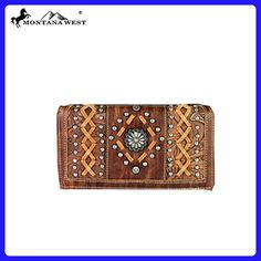 MW364-W010 Montana West Concho Collection Secretary Style Wallet-Brown - Wallets (*Amazon Partner-Link)