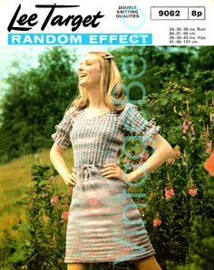 1960s Dress Knitting Pattern Instant Download PDF Lee Target 9062 Vintage Beso by VintageBeso on Etsy