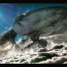 "scifiandfantasyuniverse: "" The USS Enterprise ""Star Trek"" "" Star Trek Enterprise, Star Trek Voyager, Star Trek Tos, Star Trek Characters, Star Trek Movies, Stark Trek, Starfleet Ships, Akira, Star Trek Images"
