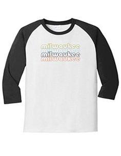 Milwaukee Wisconsin Retro 5700 Raglan T Shirt Slogan Humorous White Black XX-Large, Men's