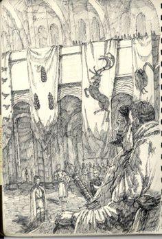 Lucerys Velaryon's meeting with Borros Baratheon by iasve