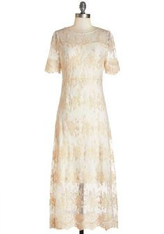 Lovely lace dress- can work with almost any season of Downon Abbey