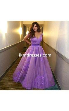 http://www.ikmdresses.com/Purple-Sweetheart-Spaghetti-Straps-A-Line-Floor-Length-Tulle-Sleeveless-Sashes-Appliques-Long-Prom-Dresses-p91584