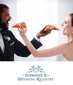 Make your wedding cheesier. Register for pizza today.