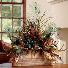 This handcrafted arrangement uses barn wood, dry pods and real antlers and feathers to create a unique piece that will bring a touch of the open range to your celebration Antler Centerpiece, Floral Centerpieces, Dried Flowers, Silk Flowers, Antler Crafts, Deer Decor, Silk Floral Arrangements, Fall Decor, Holiday Decor