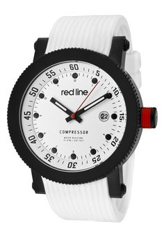 Price:$119.00 #watches Red Line 18000-02-BB-WHT-ST, An aura of brilliance. This Red Line timepiece glows with its irradiant charm. Its smooth design will intensify anyone's personality.