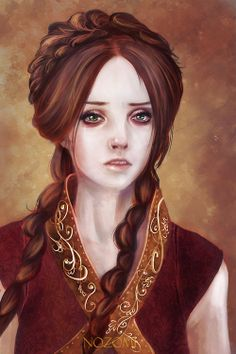 She looks more like young Queen Cersei to me than Sansa Stark
