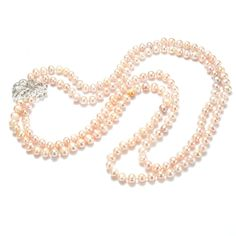 Shiny Swan Light Purple Pearl 2 Strand Necklace 7-8mm Potato Freshwater Pearls FN497 Cultured Pearl Necklace, Freshwater Pearl Necklaces, Pearl Jewelry, Diy Necklace, Strand Necklace, Light Purple, Handmade Necklaces, Fresh Water, Swan