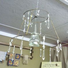 Lamp Shade Frame Wire Authentic Vintage Lampshade Pendant