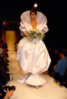 Emanuel Ungaro, Fashion's Most Outrageous Couture Brides - Vogue, 1986