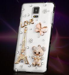 Luxury Rhinestone Samsung Galaxy Note 4 N9100 Phone Case Cover Bling