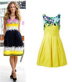 Sex & the City'nin Carrie'si Sarah Jessica Parker, floral desenli elbiseleri seviyor. Onun görünümüne kavuşmak için Forever New'un elbisesini denemenizi öneriyoruz.
