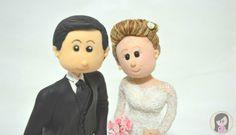 Topo Bolo de Casamento Fofinhos - wedding / biscuit / bride