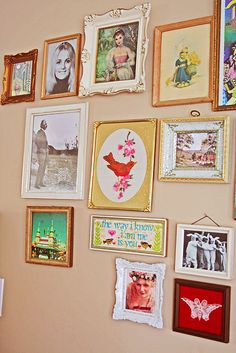 #frames wall I love these colors!!