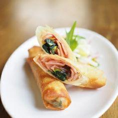 小松菜とベーコンで簡単!春巻き|レシピブログ