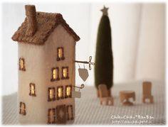 House lamp yellow roof | Lighting (Light) lamp | Handmade mail order and sales Creema