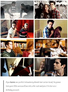 Stiles is protective of Lydia. GIFset