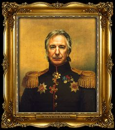 Rickman. The one of Simon Pegg is ridiculous..ly awesome.
