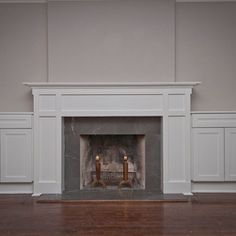 Toronto North Forest Hill Craftsman style mantle with storage