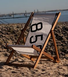 Personalised Deck Chair with Recycled Sail cloth by TheOldSaltLoft